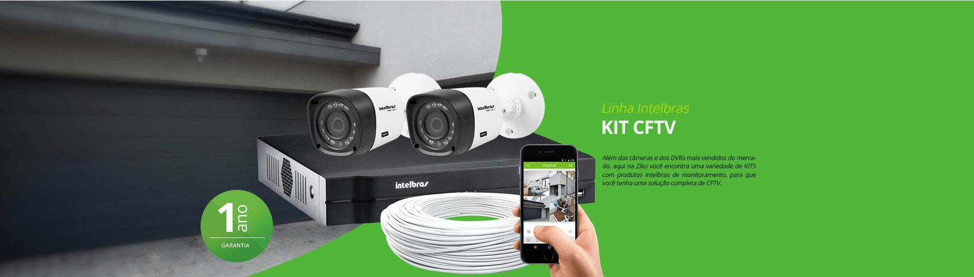 Linha Intelbras kit CFTV