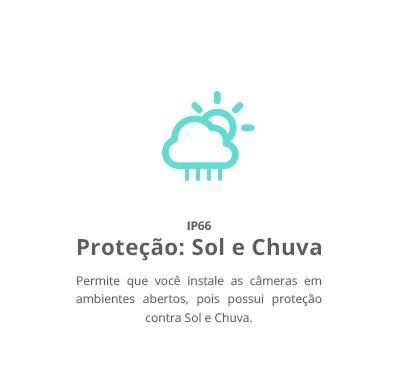 IP66: Proteção para Sol e Chuva