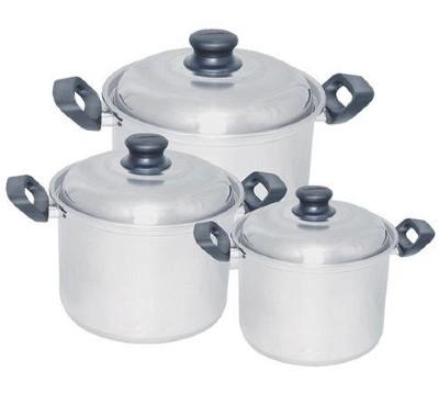 Conjunto Caldeirão Luxo Marmicoc Aluminio Com 3 Peças