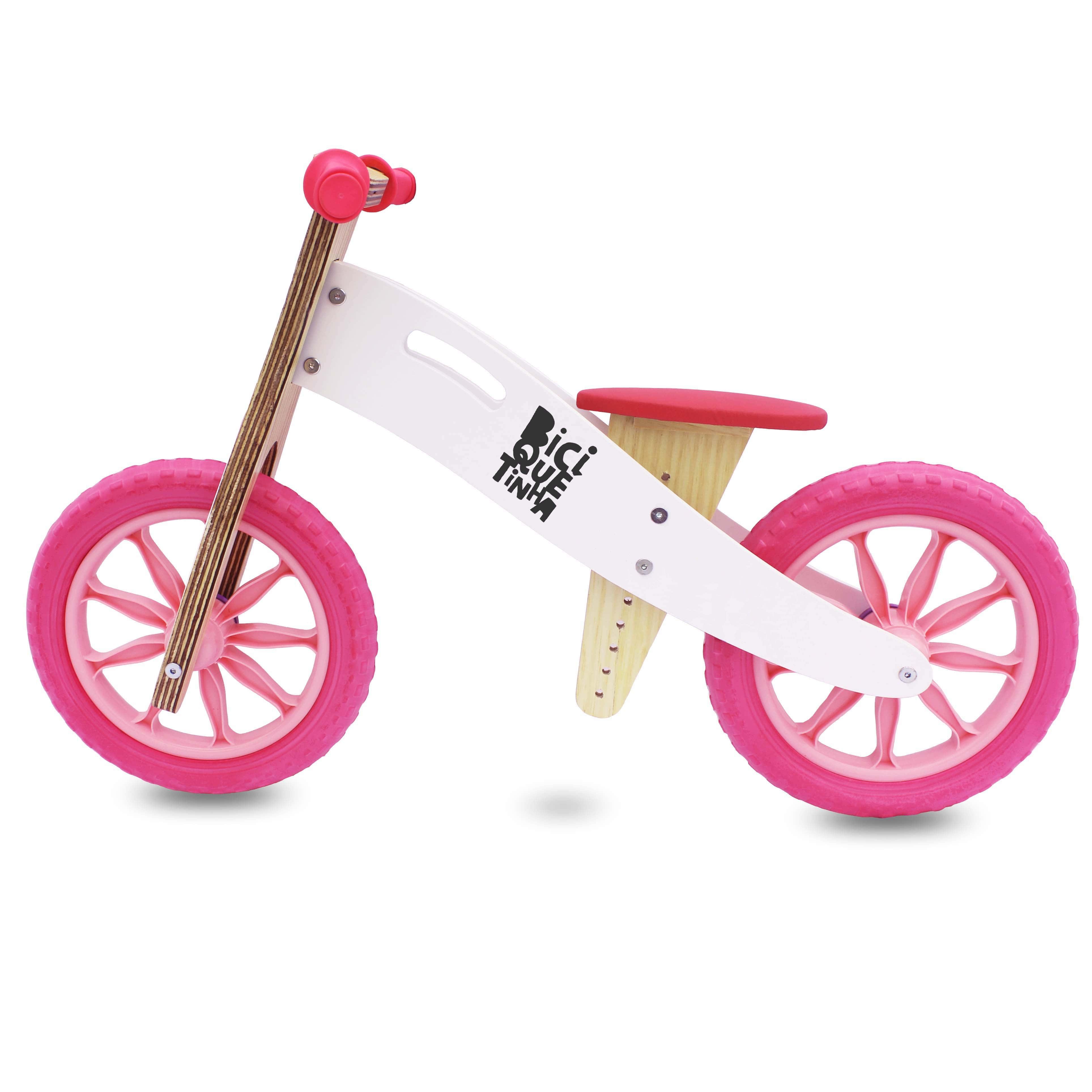Bicicleta sem pedal Rosa Biciquetinha