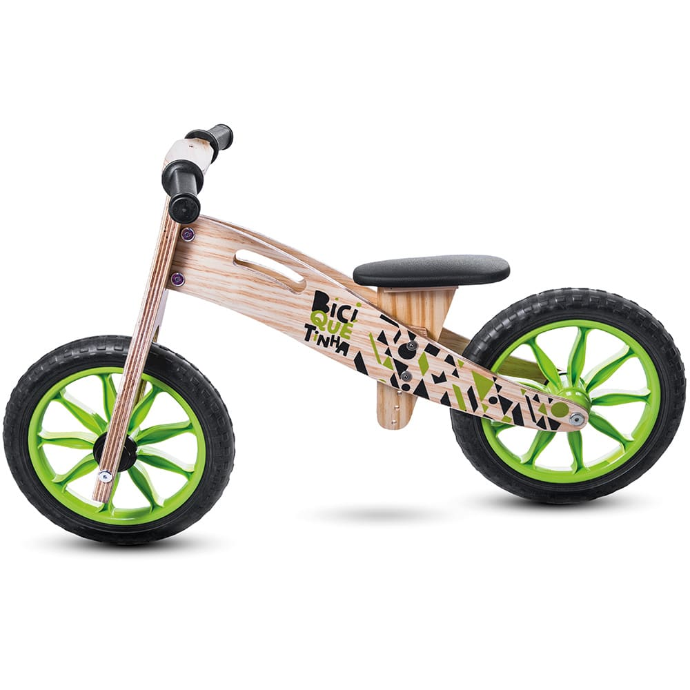 Bicicleta sem pedal de madeira
