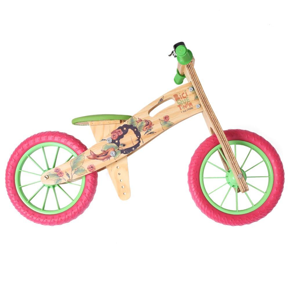 Bicicleta de equilíbrio Digo Verde Vermelha