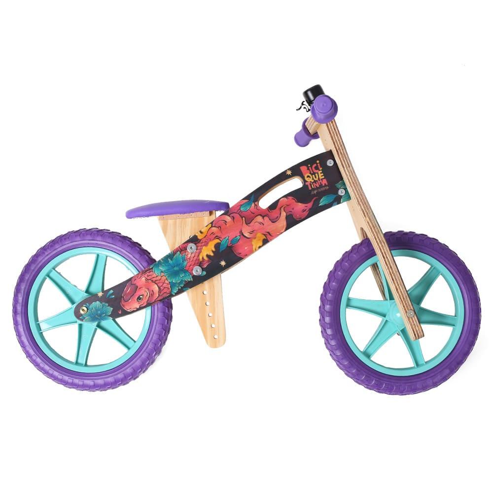 Bicicleta de madeira Grafite