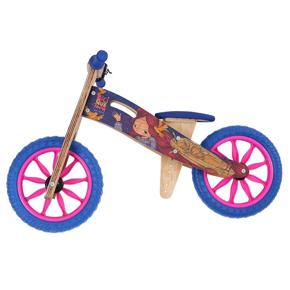 Bicicleta de madeira Azul Digo Cardoso