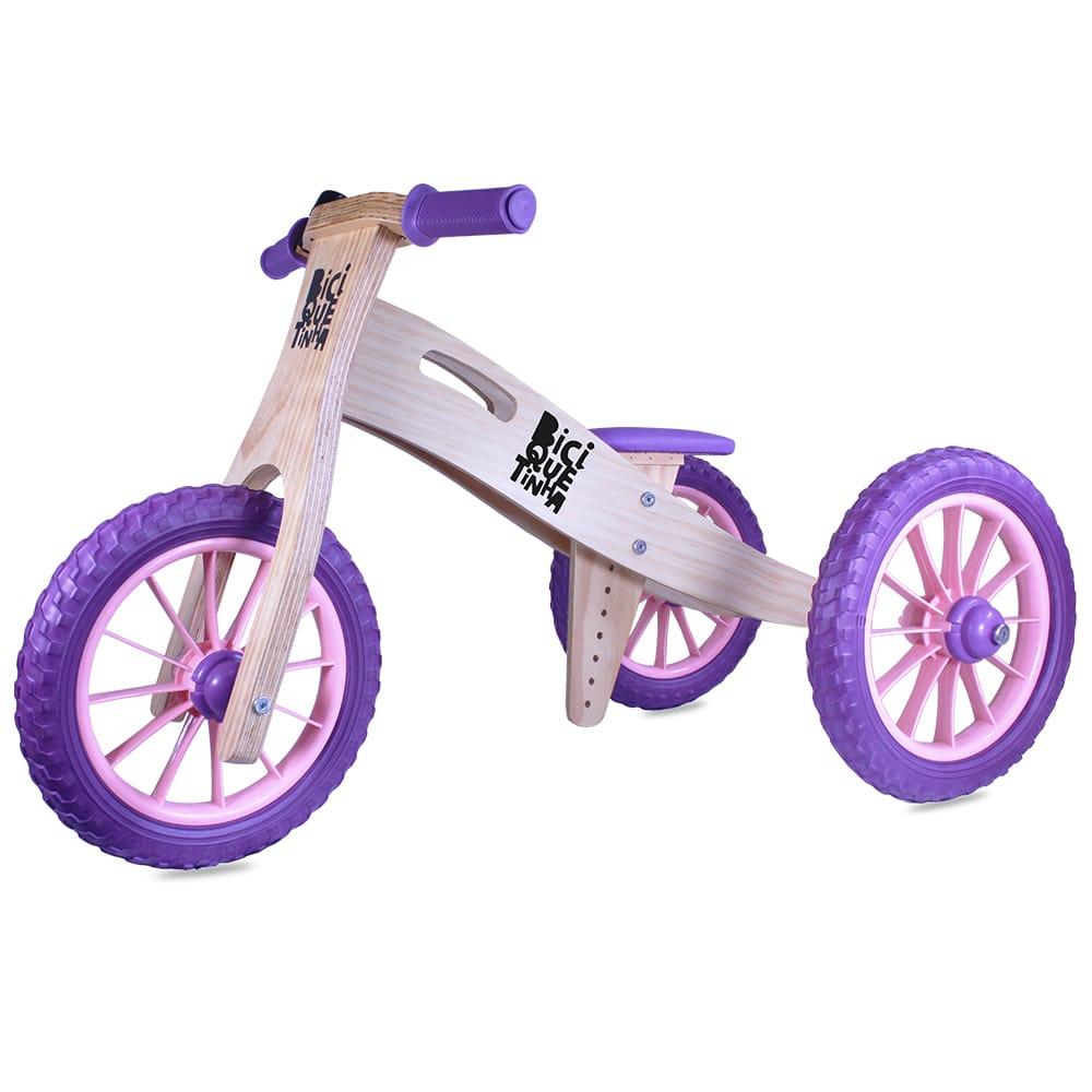Triciclo 2 em 1 Lenho Roxo Rosinha