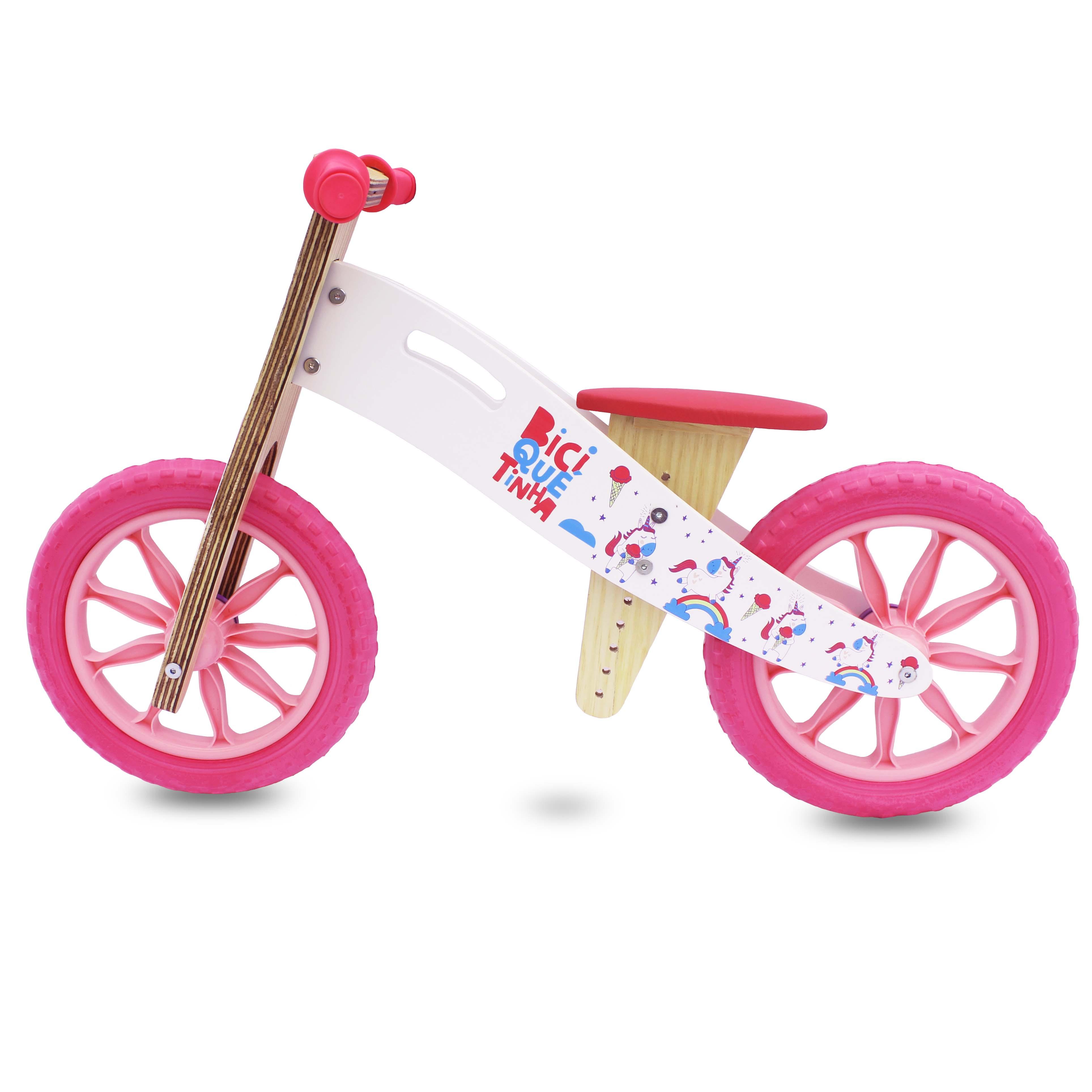 Sem pedal madeira rosa
