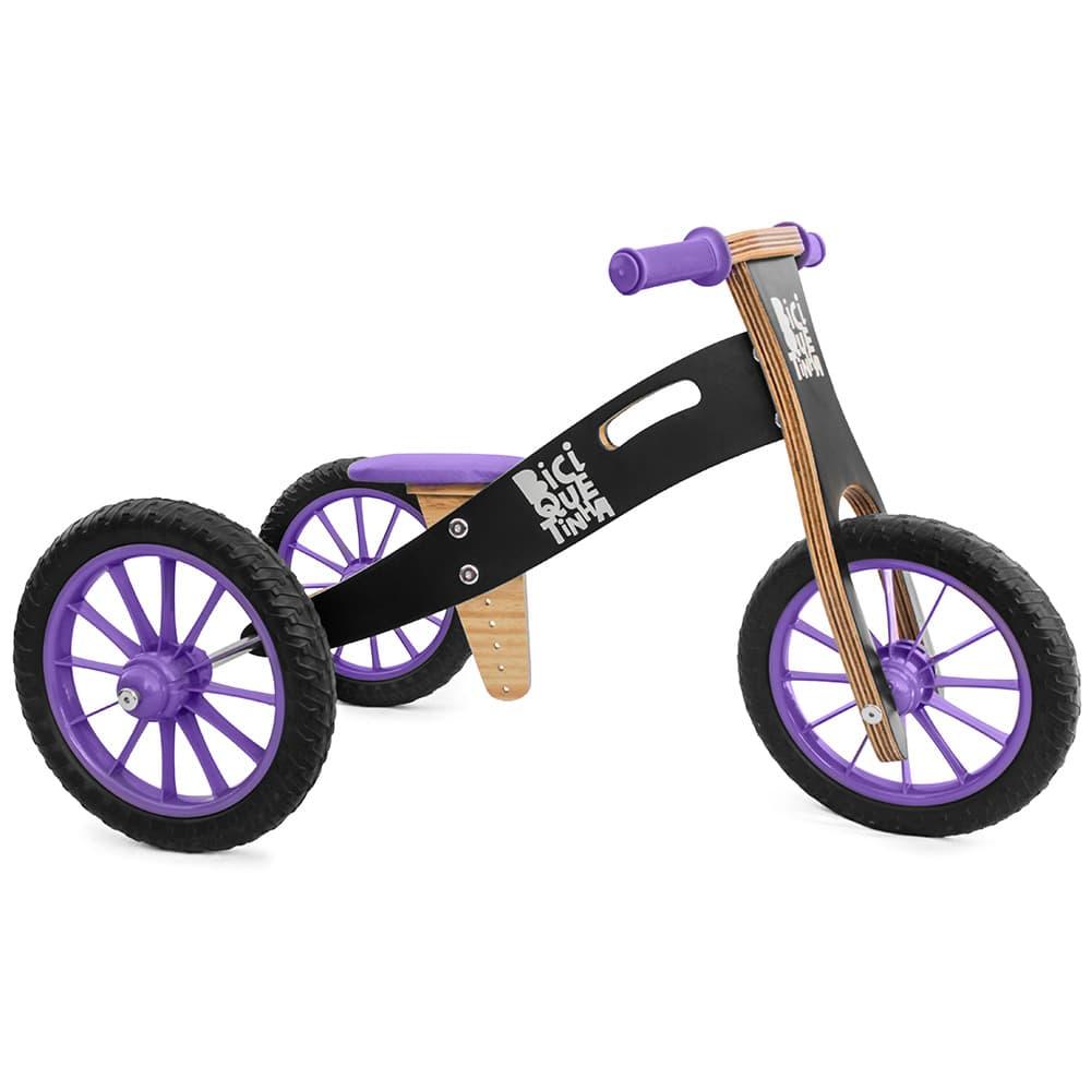 Triciclo 2 em 1 preto