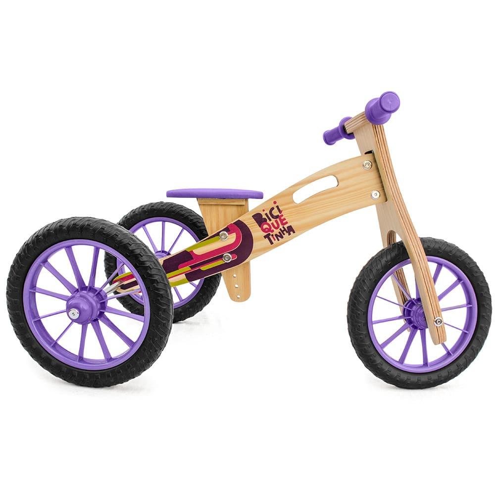 Triciclo 2 em 1 madeira
