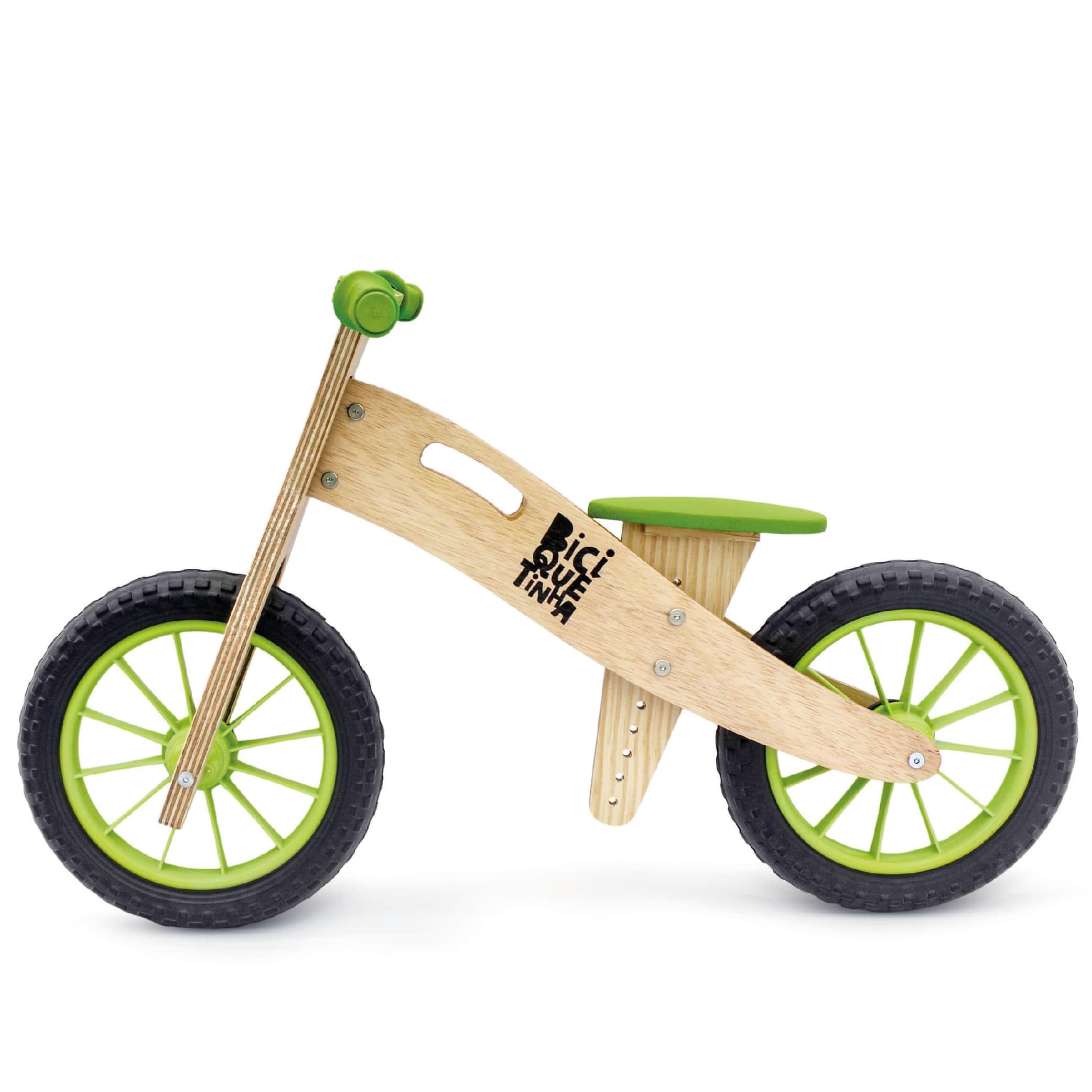 Biciquetinha Verde sem pedal