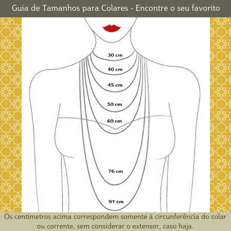 Guia de tamanho para colares - Escolha seu favorito