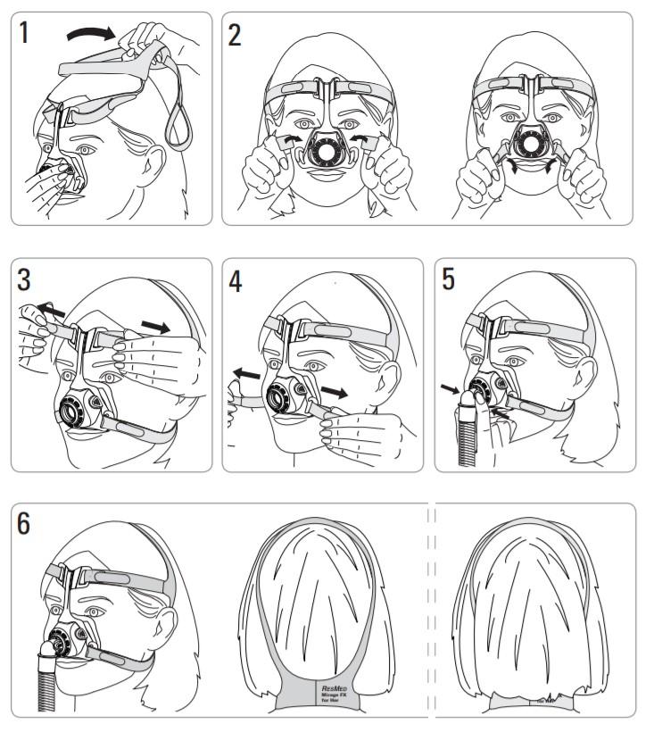 Máscara_Nasal_Feminina_Mirage_FX_For_Her_Resmed_CPAP_Care_Guia_de_Utilização