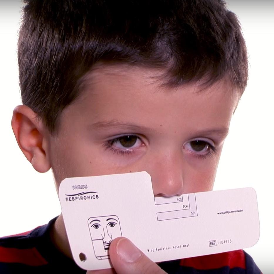 Máscara Nasal Pediatrica Wisp Philips Respironics Régua de Medida