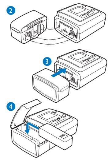 Como inserir o modulo de bateria do a40 no bipap
