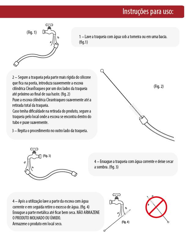 Instruções de Uso da Escova de Limpeza CleanTraqueo