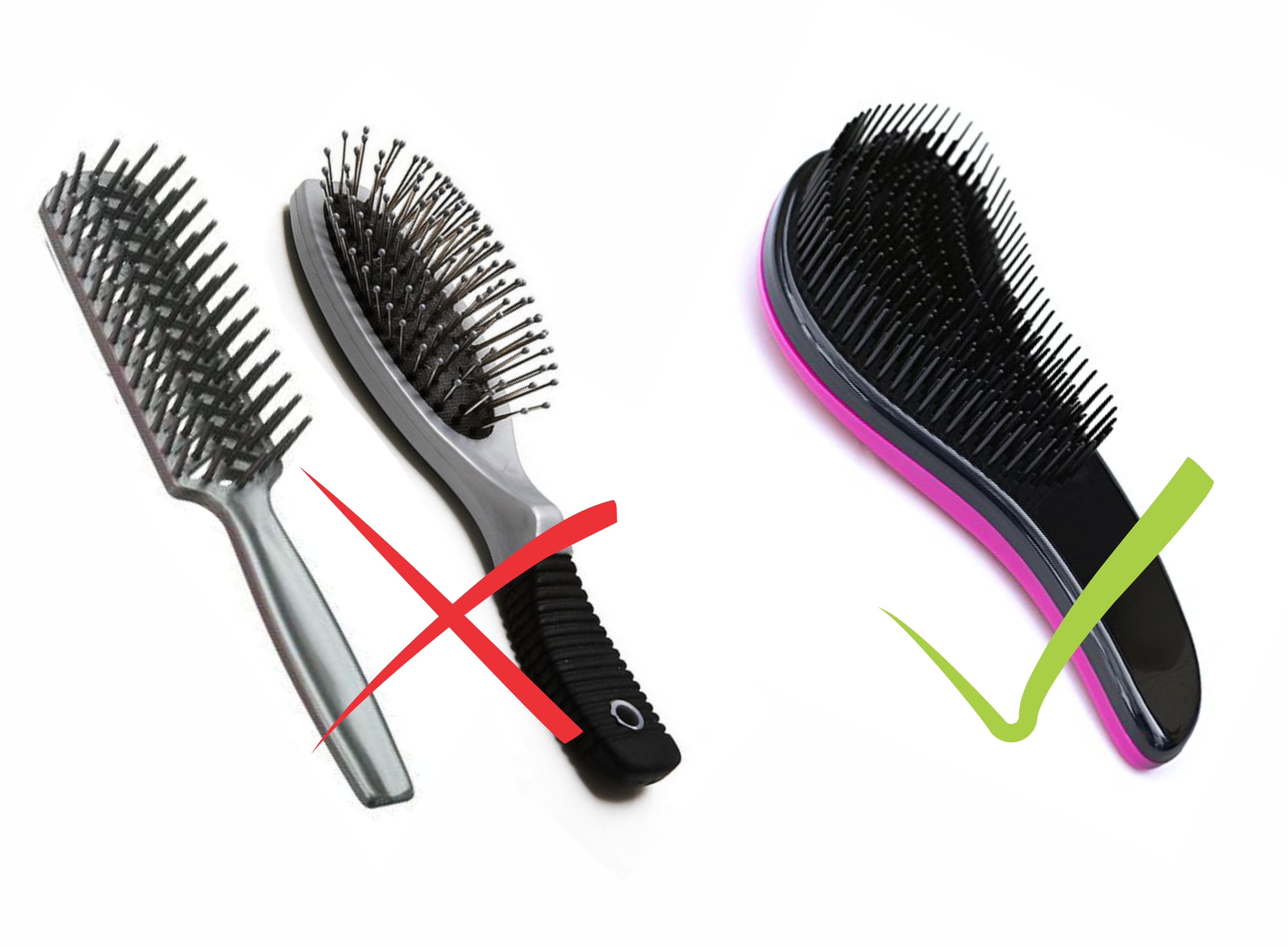 Escova de cabelo para mega hair