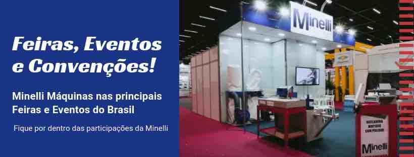 Banner Minelli Máquinas em Feiras do setor