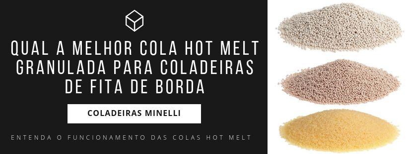 Banner Minelli Máquinas Colas Hot Melt