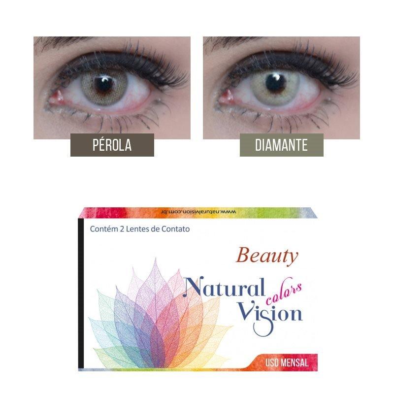 d5a58a4666845 Linha Beauty Natural Vision possuem 2 opções de cores  Pérola, Diamante