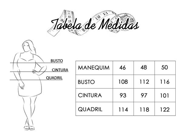 TABELA DE MEDIDAS PLUS SIZE