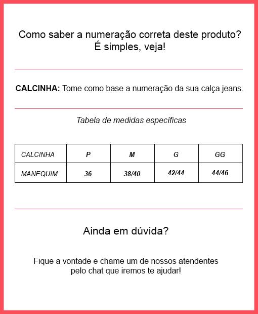 85459e06f Veja abaixo a tabela de medidas específicas deste produto