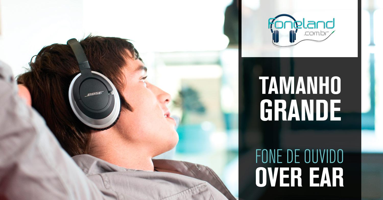 Fone de Ouvido Grande - Headphone Over Ear