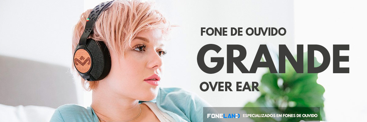 Fone de Ouvido Grande - Headphone Over Ear