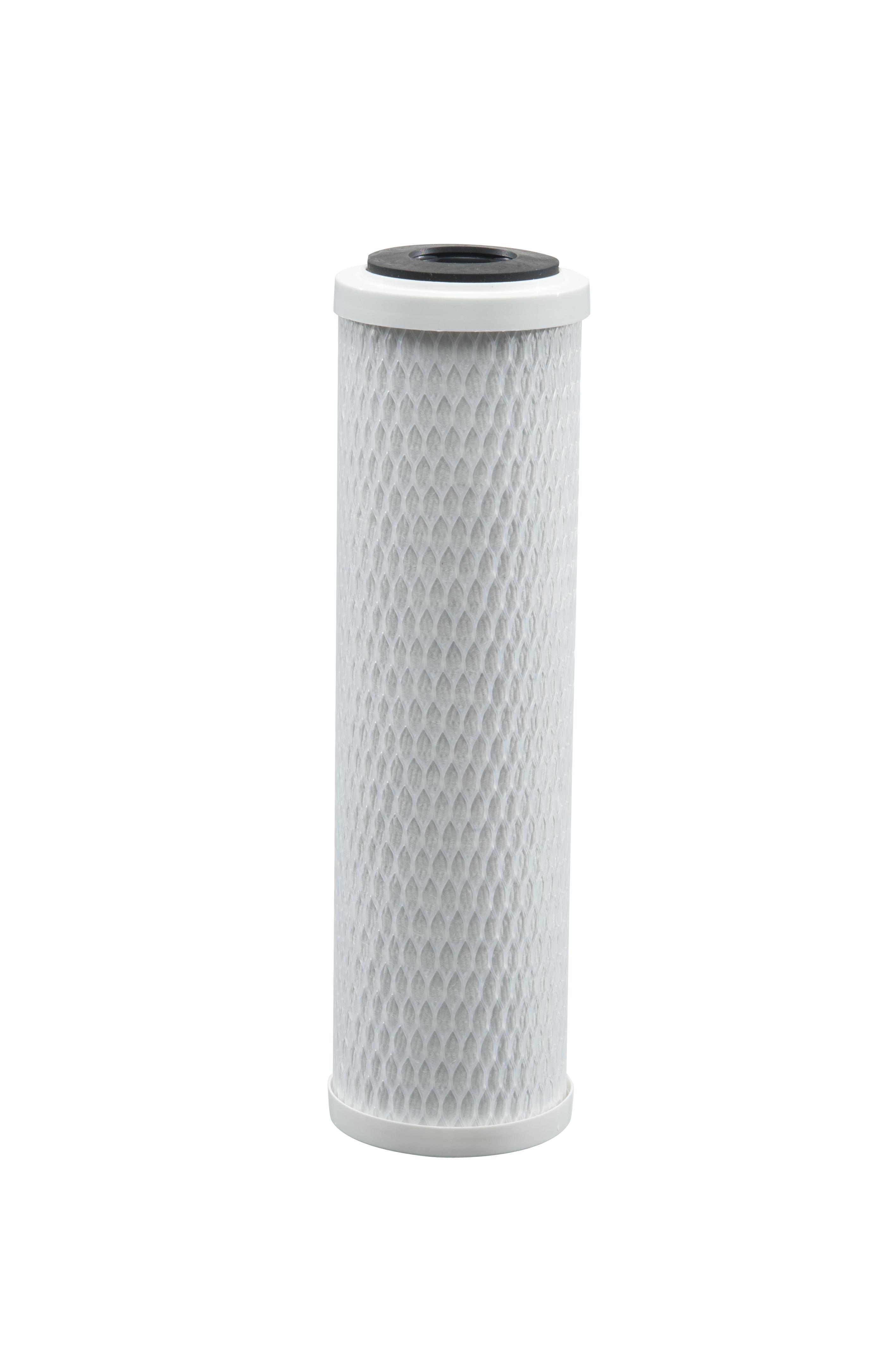 """Refil Carvão Block pentair para filtro de agua 9"""" 1/2 transparente"""