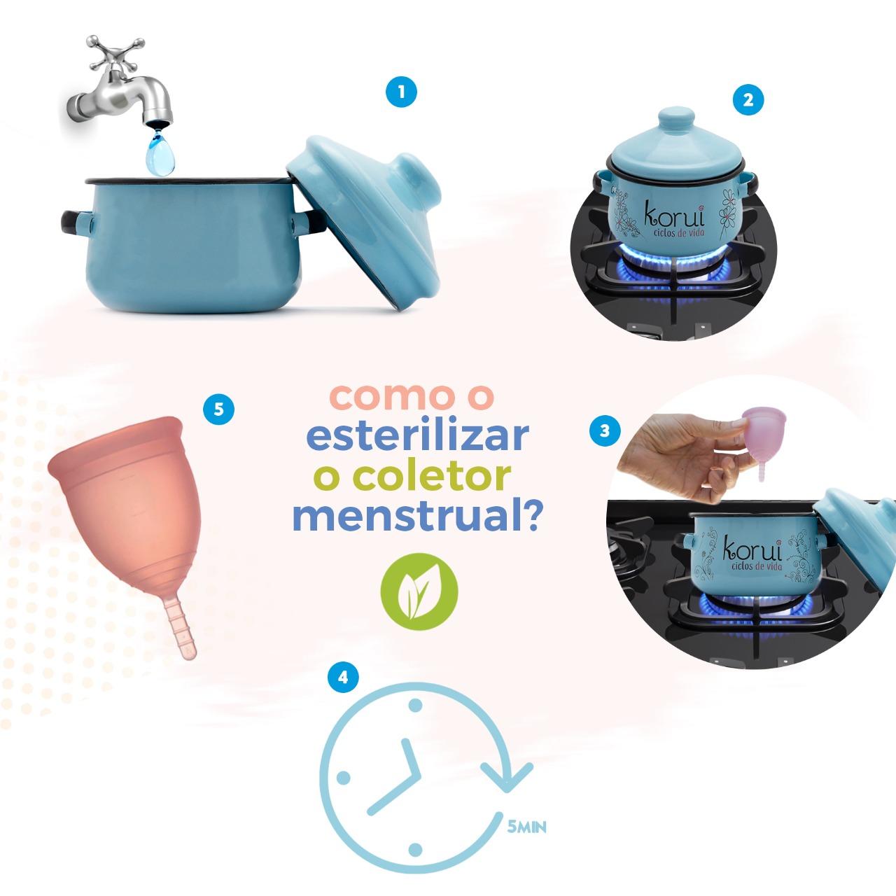 como esterilizar coletor menstrual