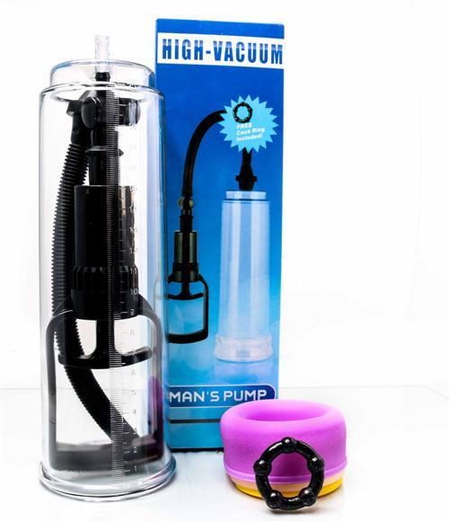 Bomba peniana manual High-vaccum man's pump com 3 anéis