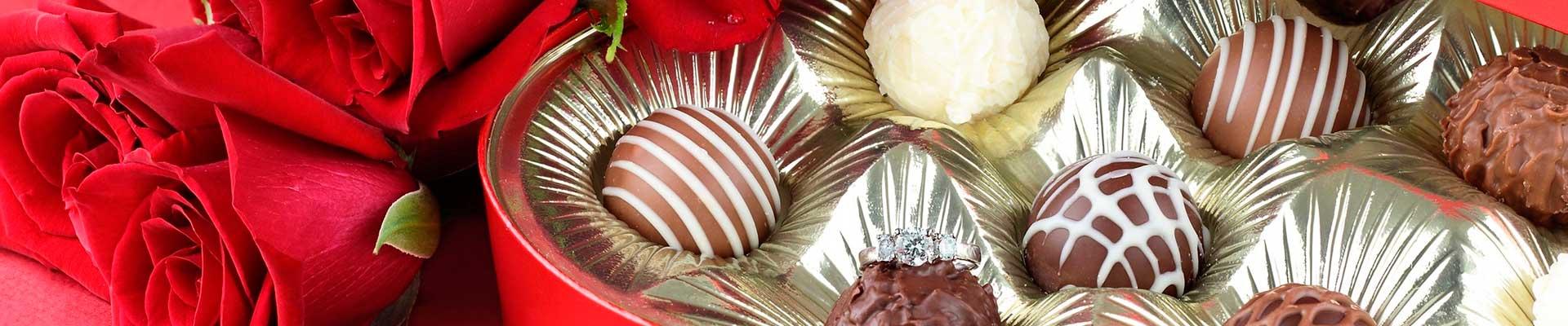cestas flores e chocolates