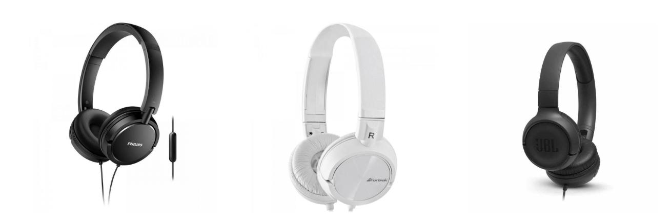 Fones de ouvido grandes