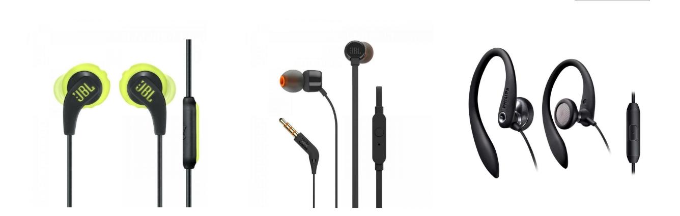 Fones de ouvido intra auriculares baratos