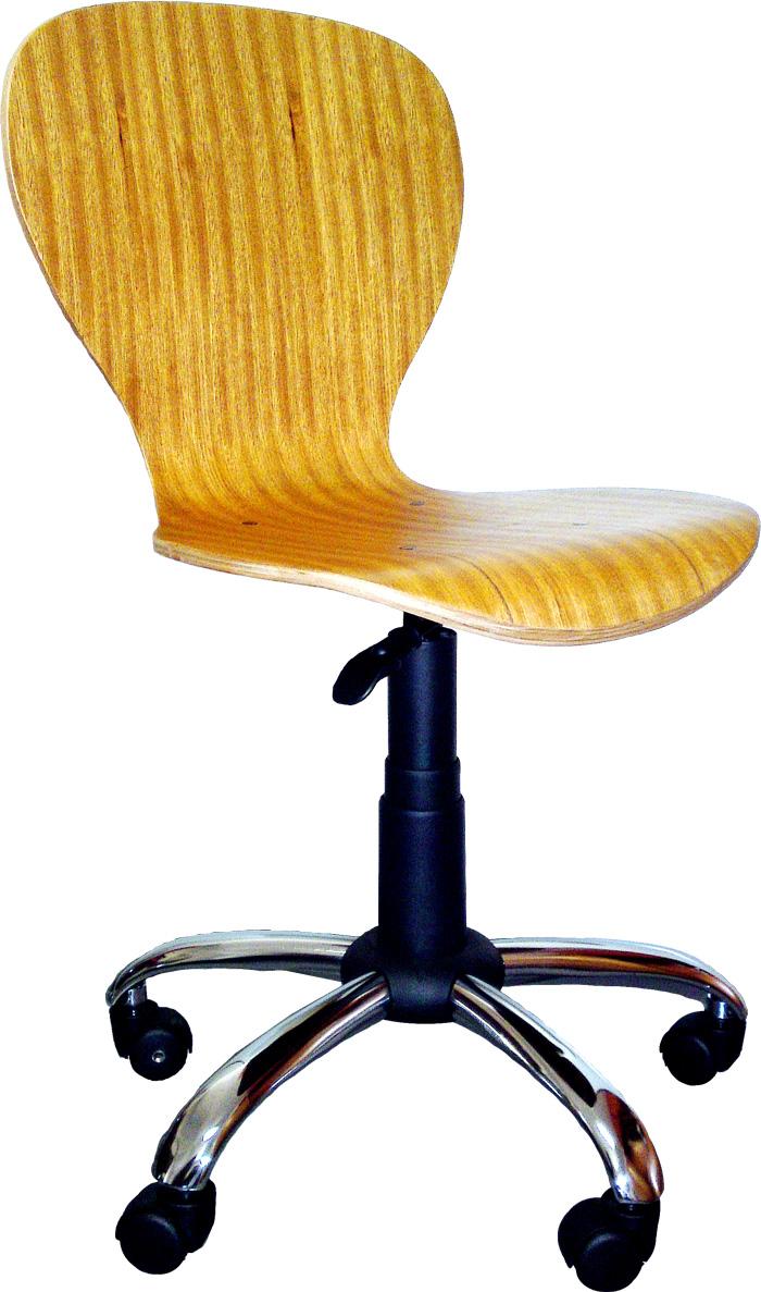 cadeira giratória de madeira modelo 12.099