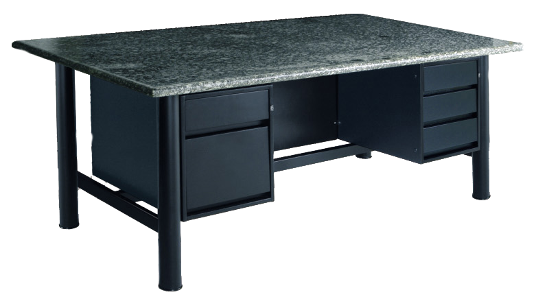 Mesa com tampo de granito ou vidro