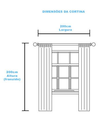 dimensões da contina para quarto de bebe - tamanho 200cm x 200cm franzido - 5 peças - dois forro, dois voil e um bandô