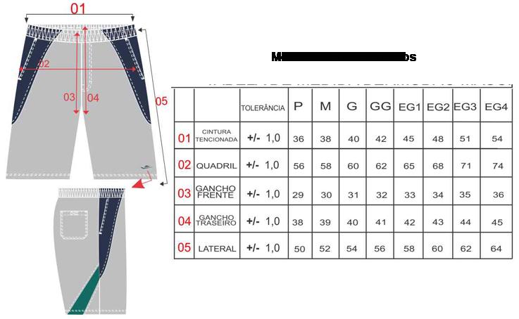 Tabela Tamanhos/Medidas