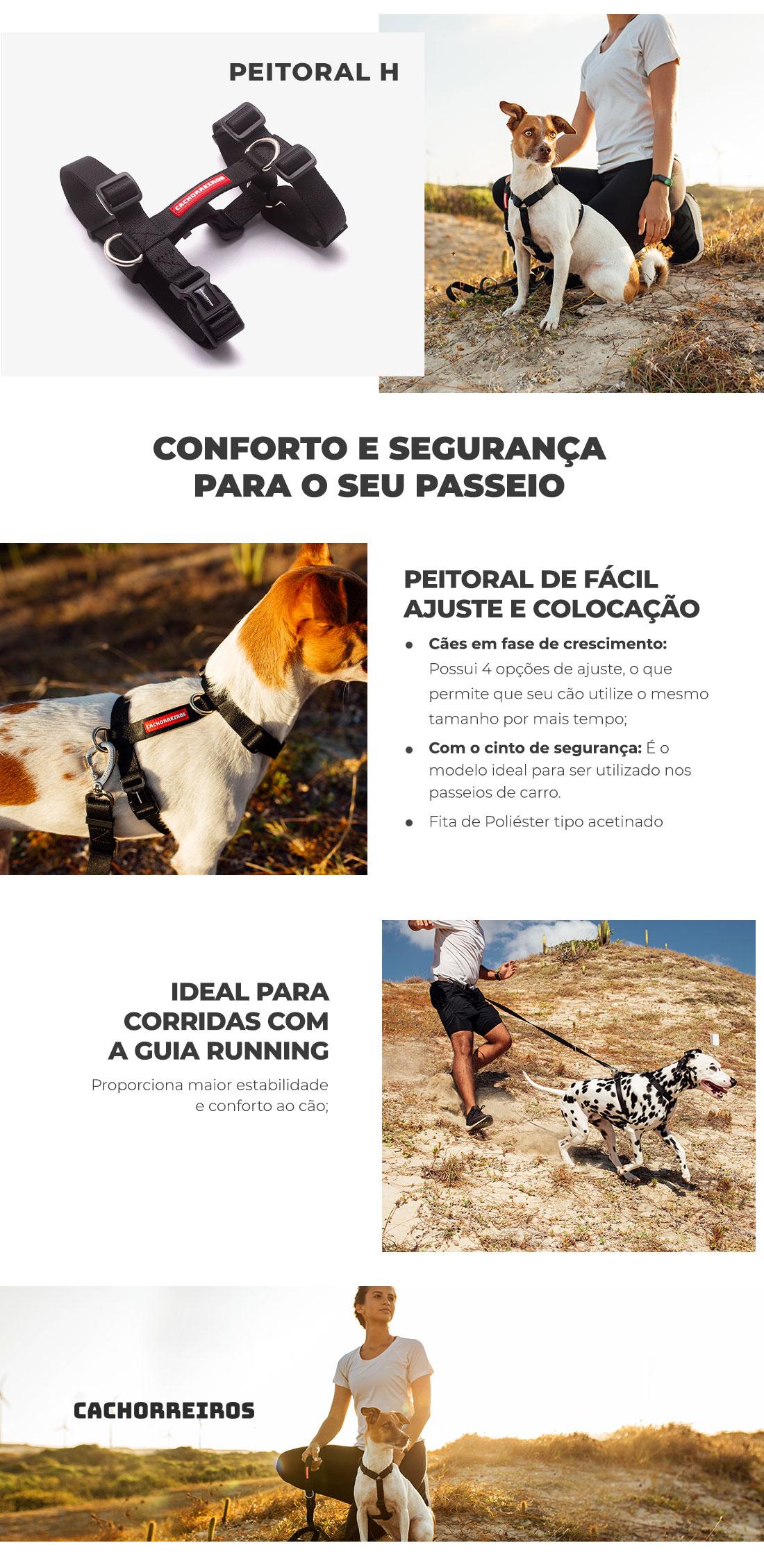 Informações Peitoral H Black Cachorreiros