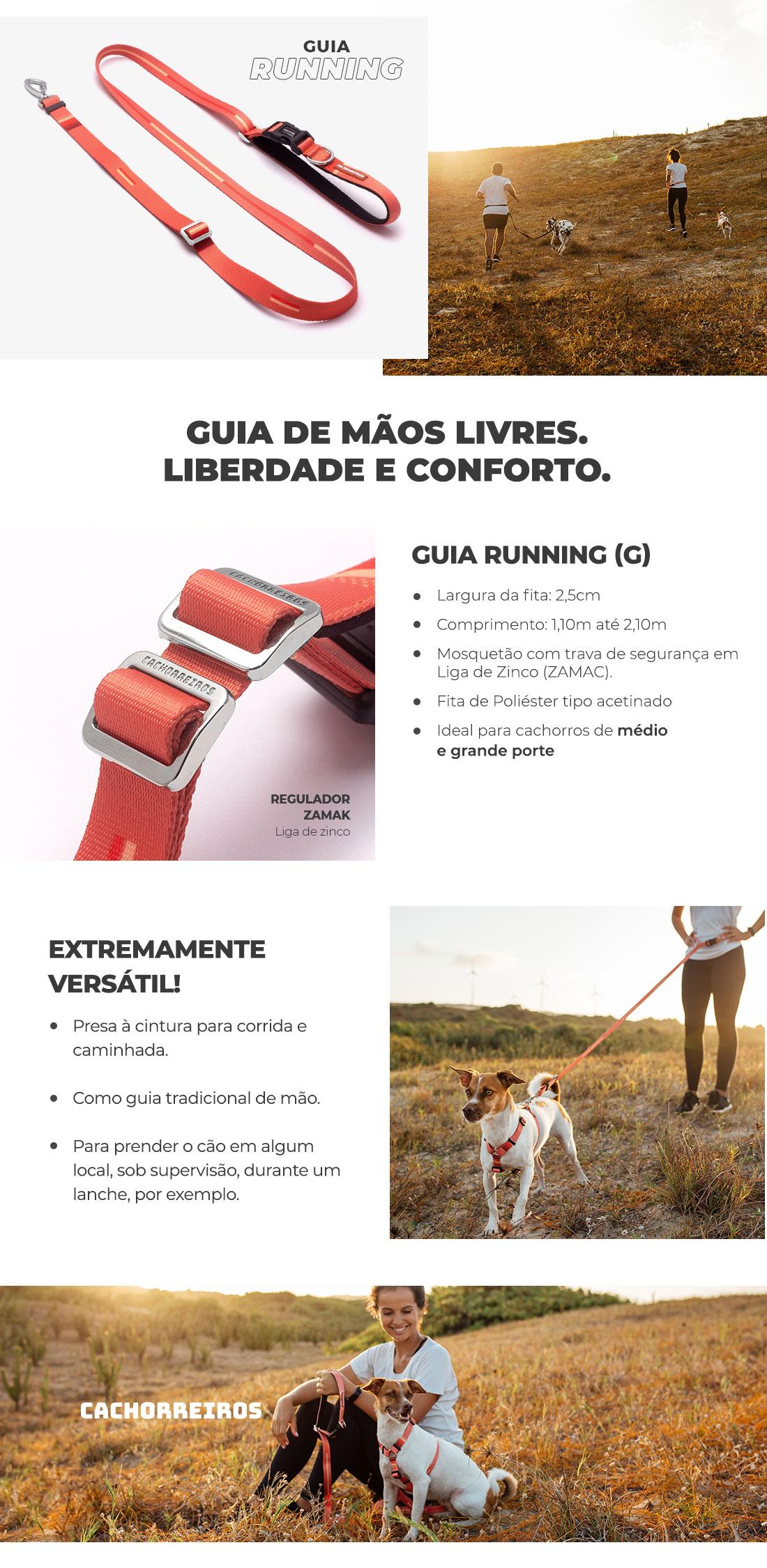 Guia Running Coral Cachorreiros