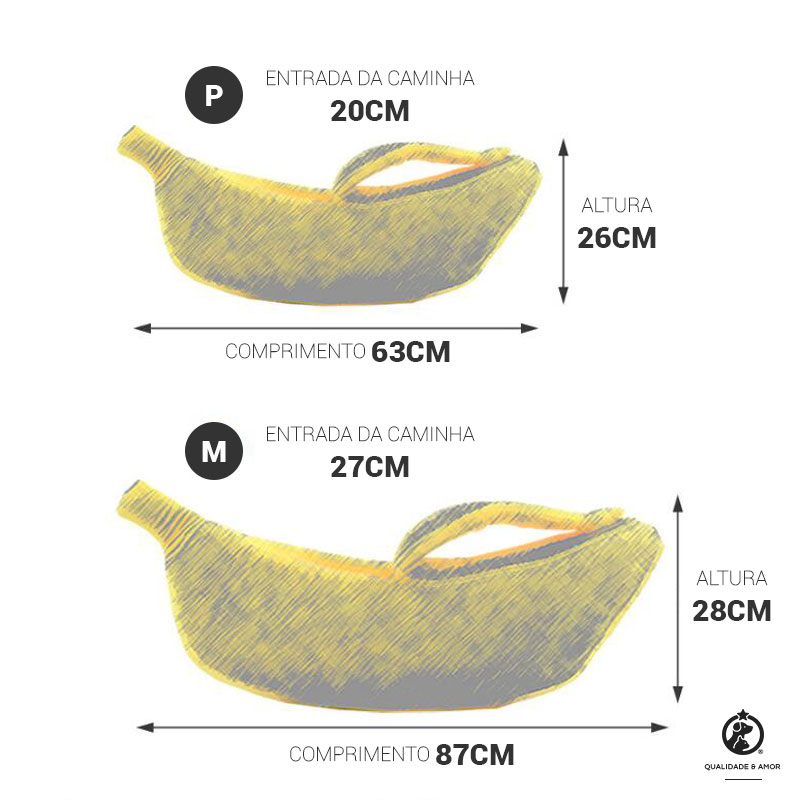 Medidas da caminha Banana Petite Sofie
