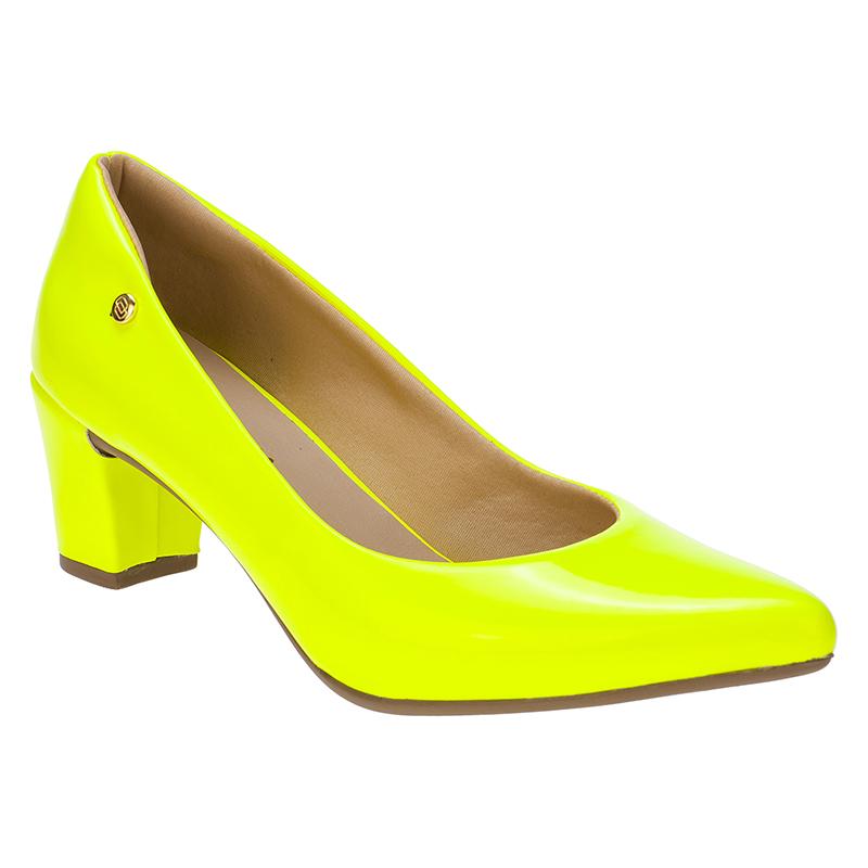 Scarpin Amarelo Neon