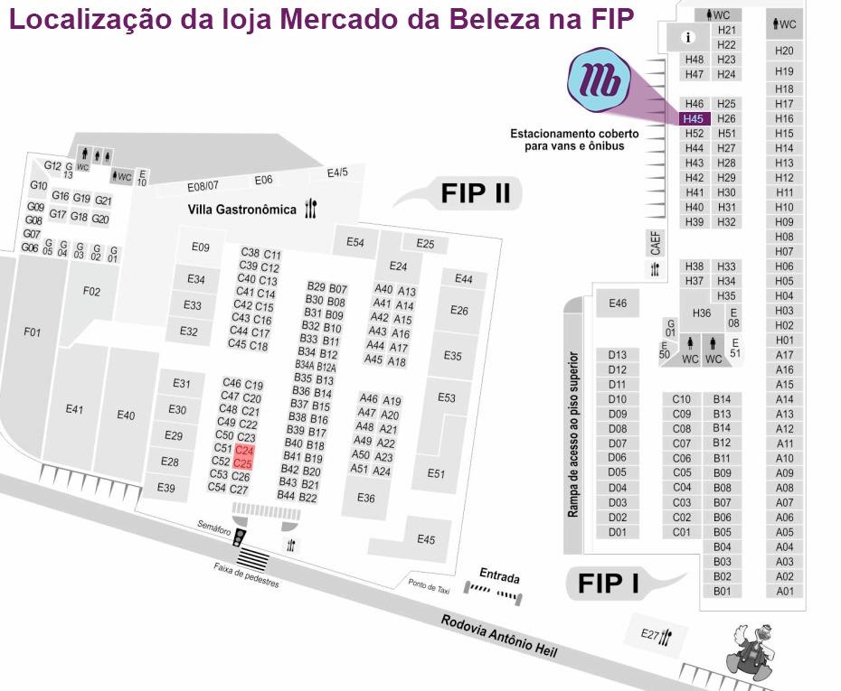 Mapa Mercado da Beleza FIP Brusque SC