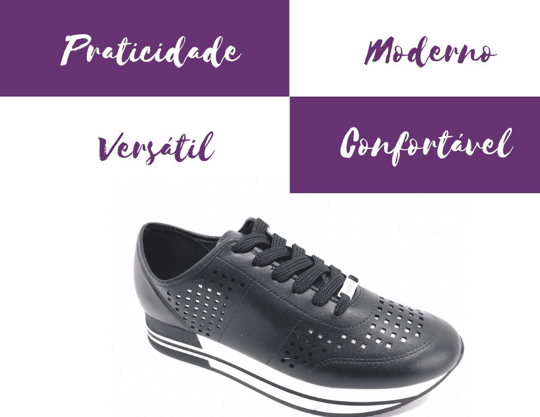 Porque-Tênis-Moleca-Jogging-Preto