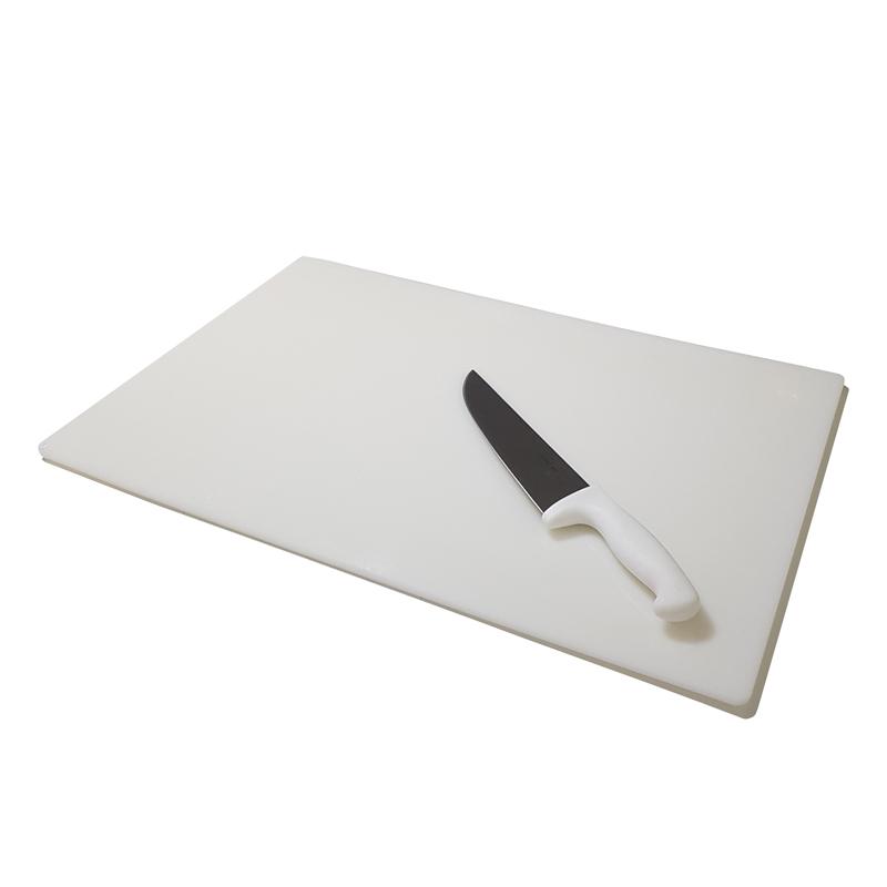 Tábua de Corte em Polietileno Branca 15 mm