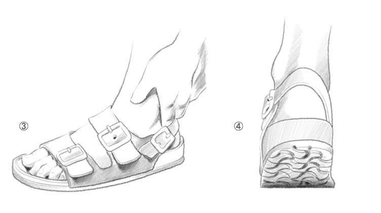 b772352a08 Feche então as fivelas ajustando ao seu pé. Não deixe ela apertada! Deve  sobrar um pequeno espaço para que seu caminhar seja confortável.