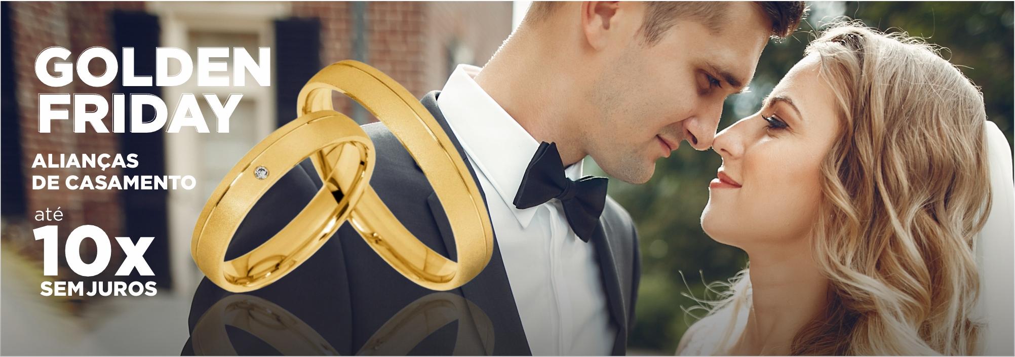 Black Friday de Alianças para Casamento Ouro 18K