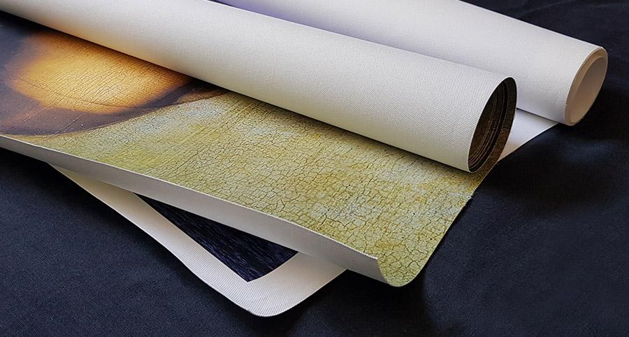 Tecido canvas sem acabamento