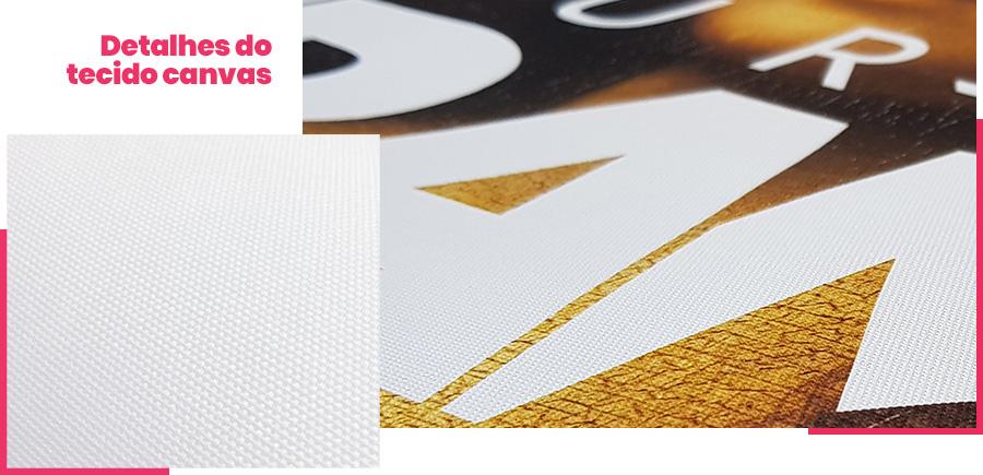 Detalhe do tecido canvas dos quadros Your Frame