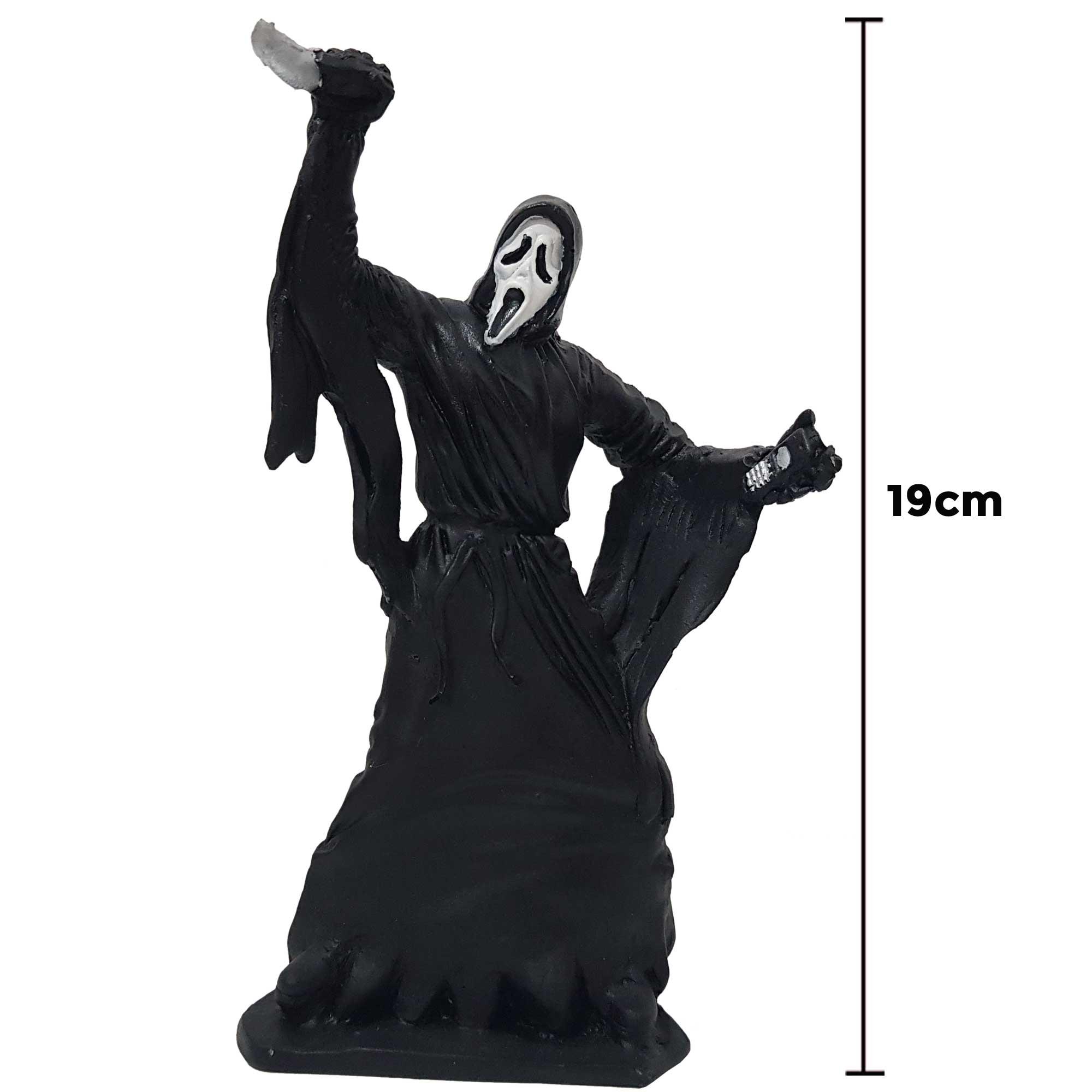 Boneco Estátua Pânico Ghostface 19cm