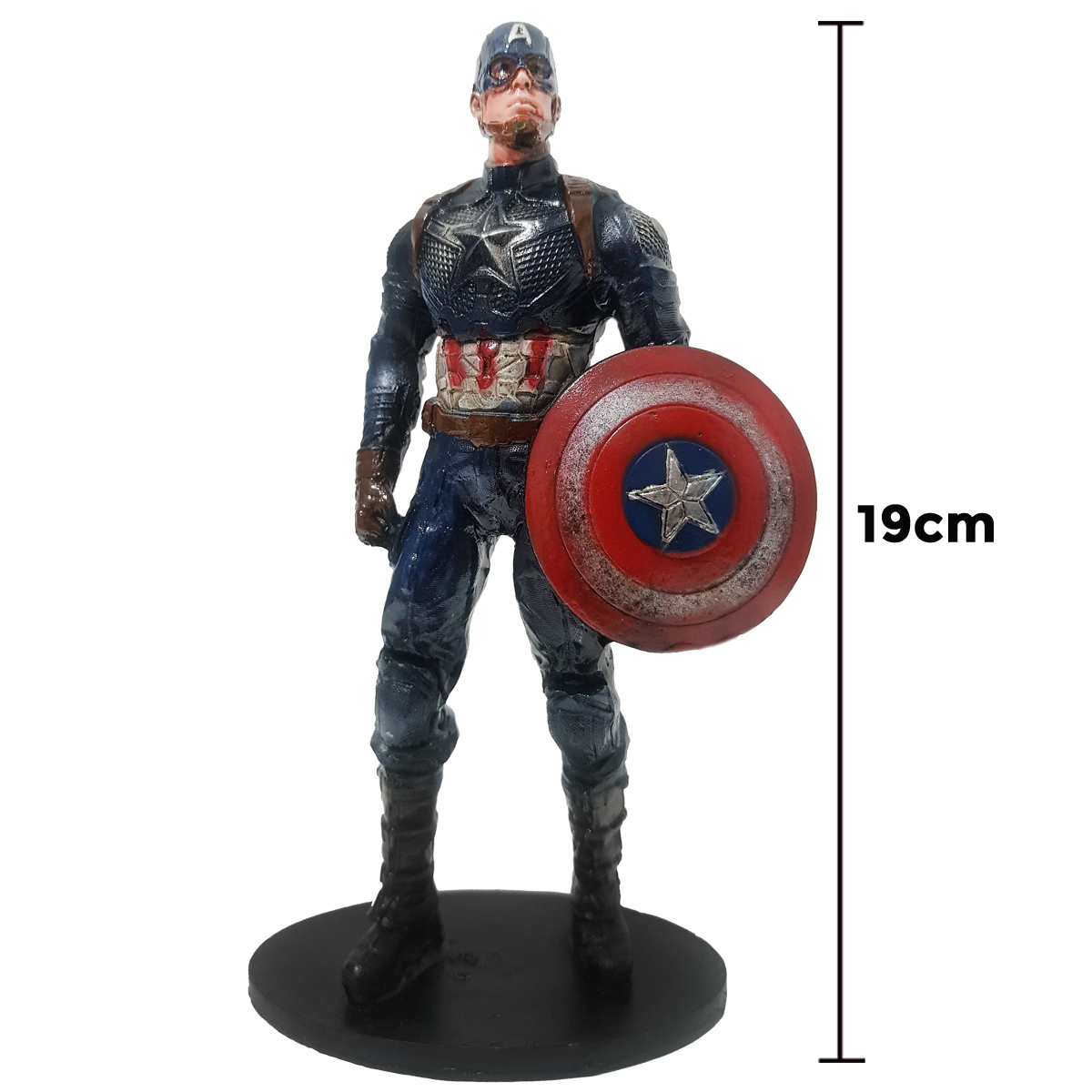 Boneco Action Figure Capitão América 19cm