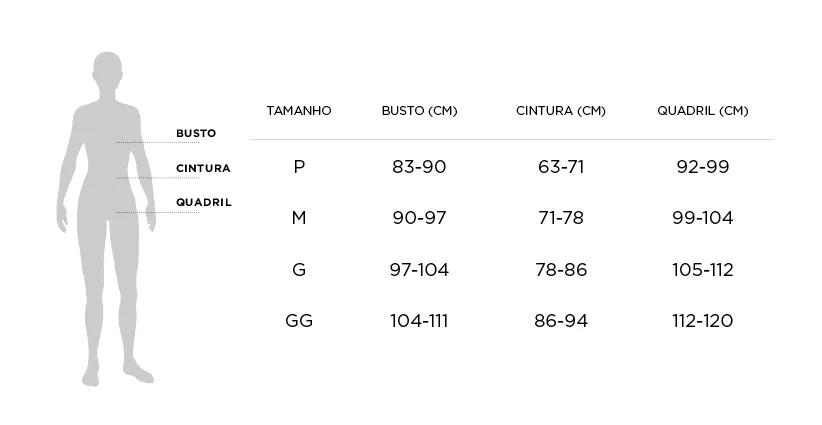 Tabela de Medidas - Roupão Trussardi Maelle